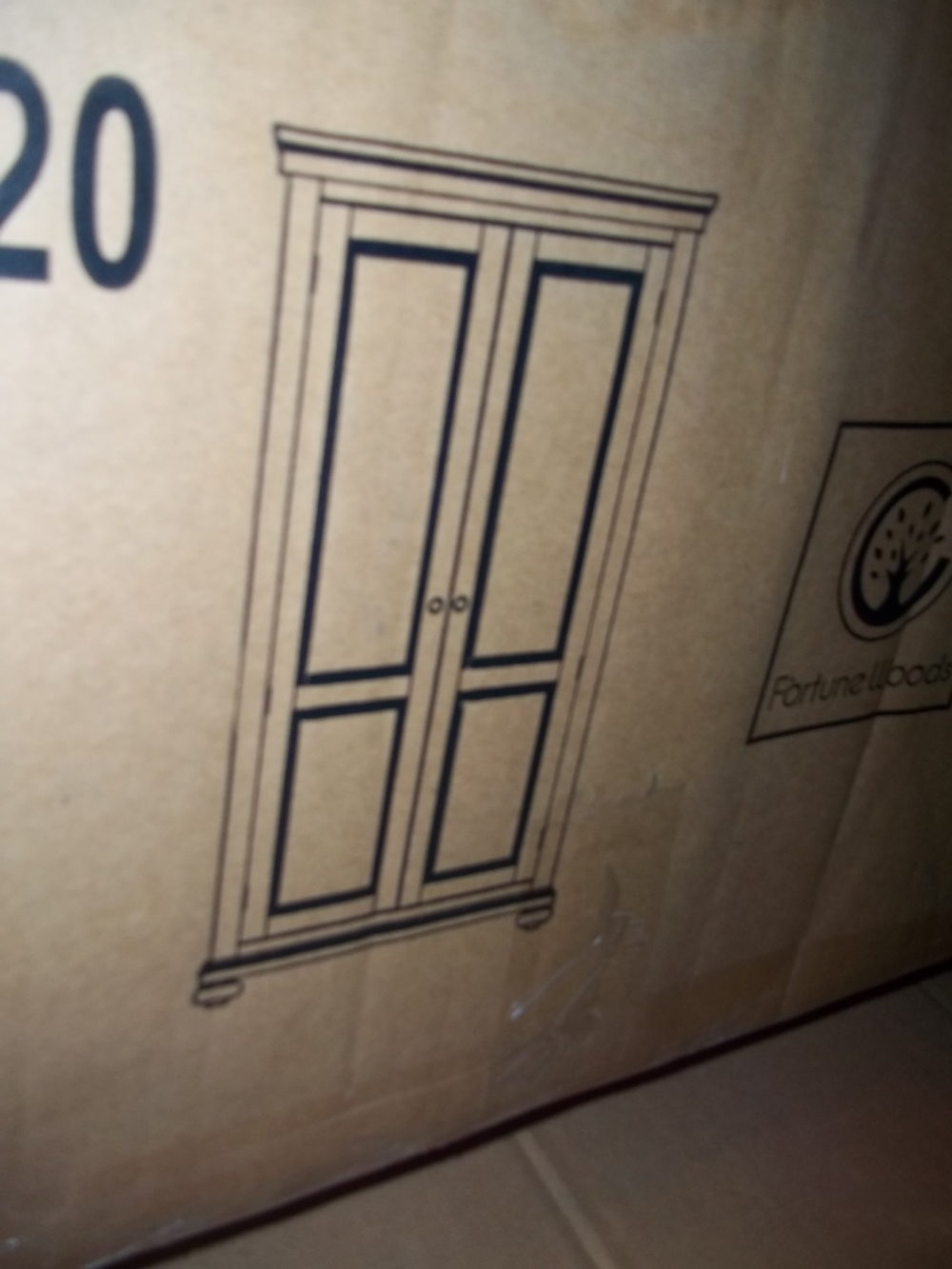 A NEW BOXED TWO DOOR WARDROBE - Image 2 of 2