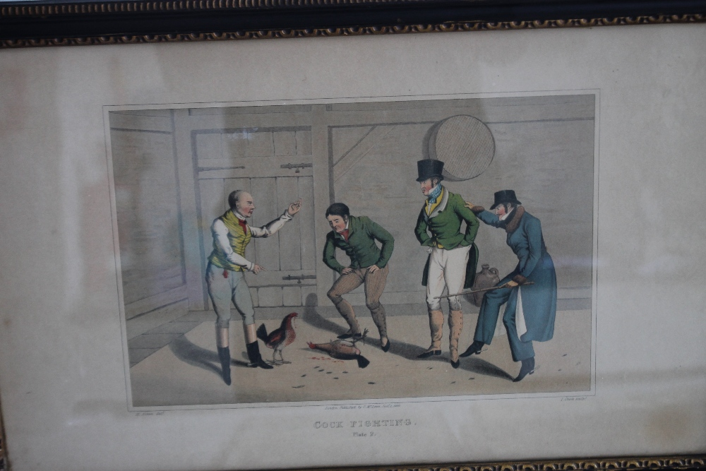 A QUANTITY OF PICTURES AND PRINTS to include an early 19th century Wheatley print, a pair of - Image 2 of 5