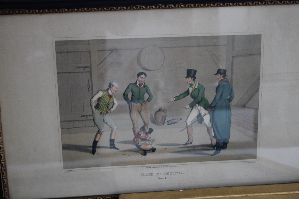 A QUANTITY OF PICTURES AND PRINTS to include an early 19th century Wheatley print, a pair of - Image 3 of 5