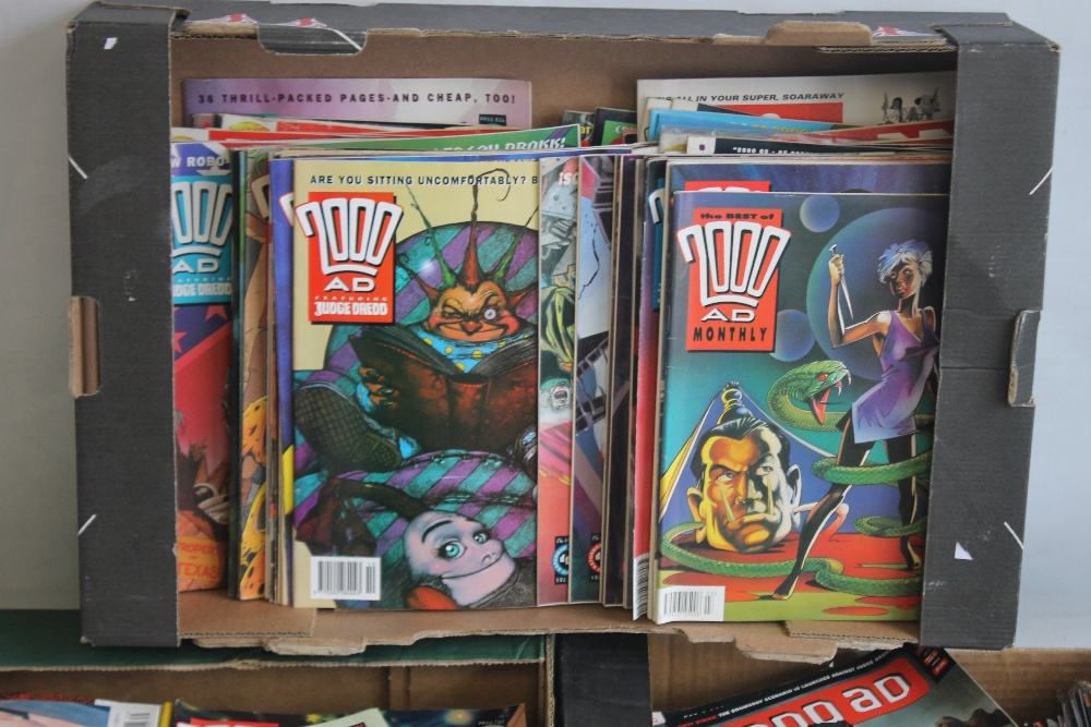 A LARGE QUANTITY OF 2000AD COMICS, mainly 1980s and 1990s, some in sealed packets and a few with - Image 6 of 10
