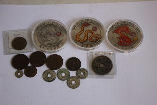 """CHINESE AND ORIENTAL INTEREST COINS, to include various early """"cash"""" types including a """"Wen Tsung"""""""