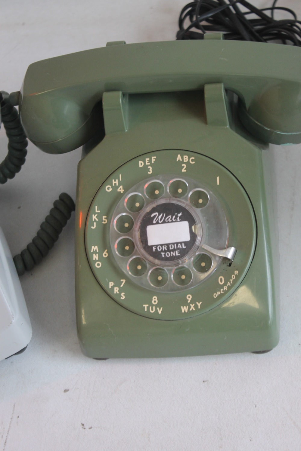 1950S FRENCH DIAL TELEPHONE WITH MOTHER IN LAW LISTENER CONVERTED together with a 1950s US 500 - Image 2 of 3