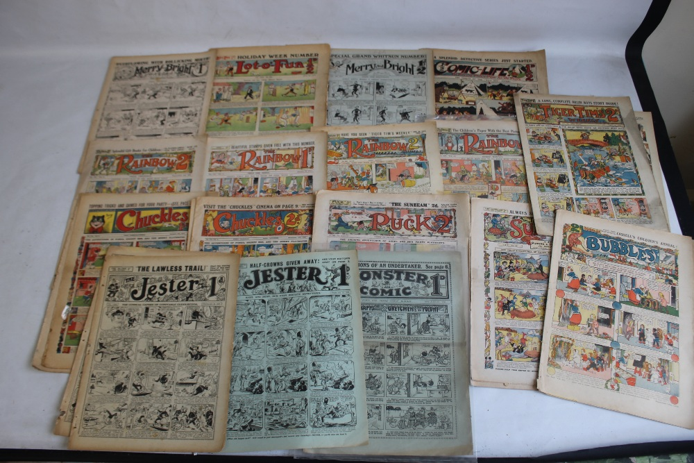 EARLY 20TH CENTURY COMICS to include 'Comic Life' #616 1910, 'Merry and Bright' #135 1913 and #402