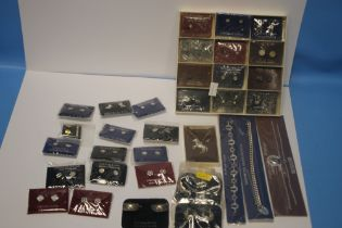 A QUANTITY OF COSTUME JEWELLERY, mainly earrings