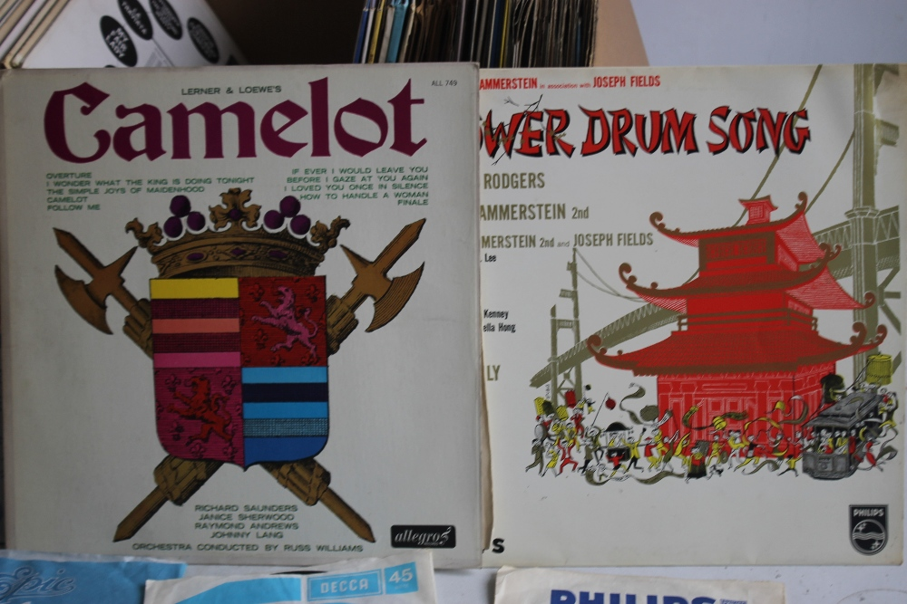 TWO BOXES OF LP RECORDS, SINGLES AND 78S to include musicals and easy listening LPs, 1960s - Image 2 of 3