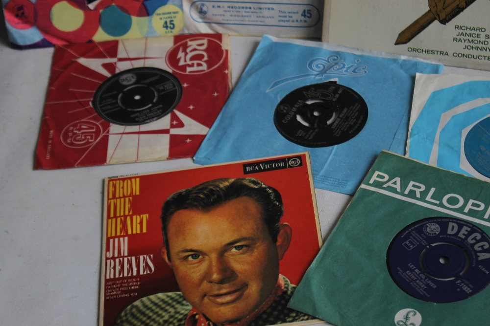 TWO BOXES OF LP RECORDS, SINGLES AND 78S to include musicals and easy listening LPs, 1960s - Image 3 of 3