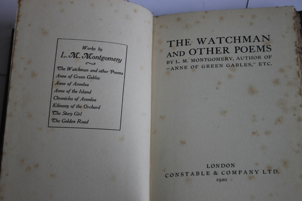 L. M. MONTGOMERY - 'THE WATCHMAN AND OTHER POEMS', London Constable & Company Ltd. 1920, possibly - Image 3 of 4