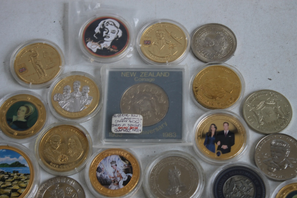 A COLLECTION OF MODERN COMMEMORATIVE CROWN SIZED COINS, to include issues from Fiji, New Zealand, - Image 2 of 5