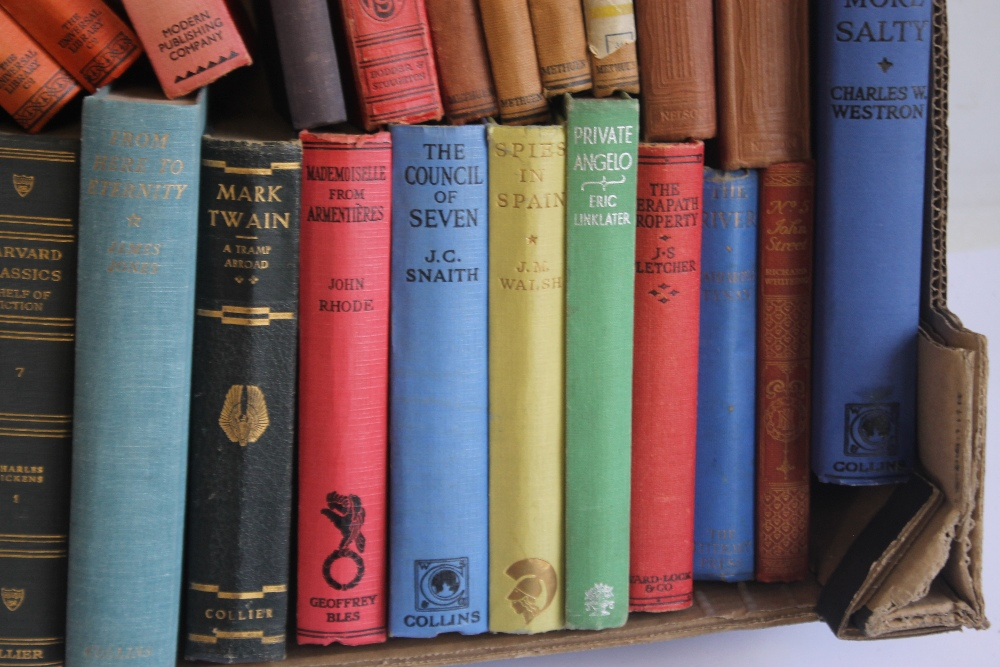 A TRAY OF VINTAGE HARDBACK NOVELS to include Edgar Wallace - 'Forty-eight Short Stories' published - Image 3 of 7