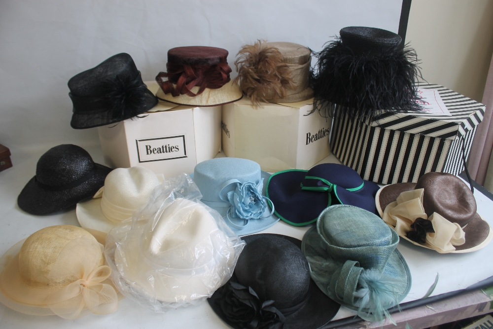 A COLLECTION OF LADIES WEDDING HATS ETC. to include Edward Mann, Jacques Vert, Peter Bettley, Lucy