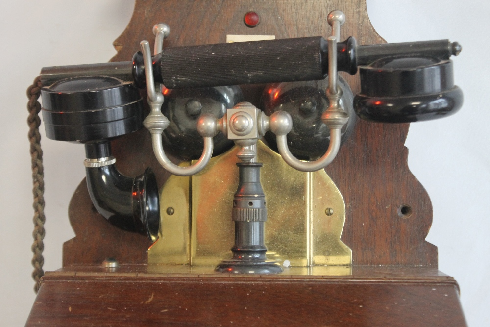 L.M ERICSSON AND CO WALL MOUNTED TELEPHONE from the turn of the century - Image 3 of 4
