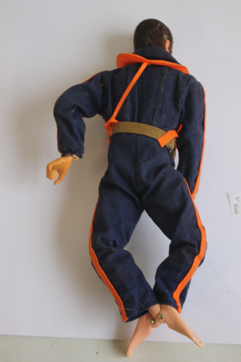 A VINTAGE ACTION MAN EAGLE EYES FIGURE WITH DARK FLOCK HAIR AND BEARD, in flying suit and USAF - Image 3 of 3