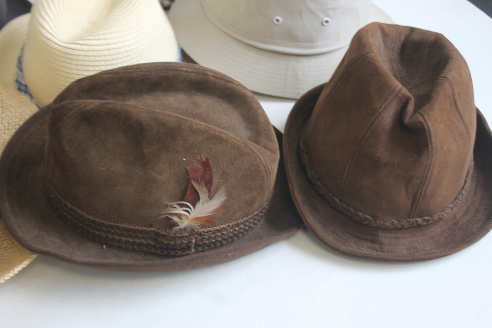 A COLLECTION OF HATS to include an Attaboy trilby, ladies' deerstalkers by Olney, Stormafit, Glen - Image 4 of 8