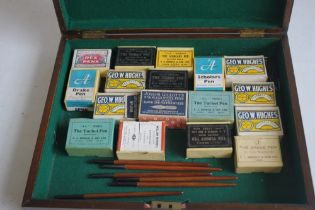 A BOX OF ASSORTED BOXED PEN NIBS, to include examples by Geo, a football pen and a small quantity of