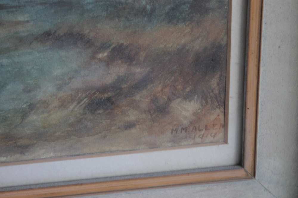 A PAIR OF FRAMED AND GLAZED WATERCOLOURS depicting farmyard scenes - Image 5 of 6