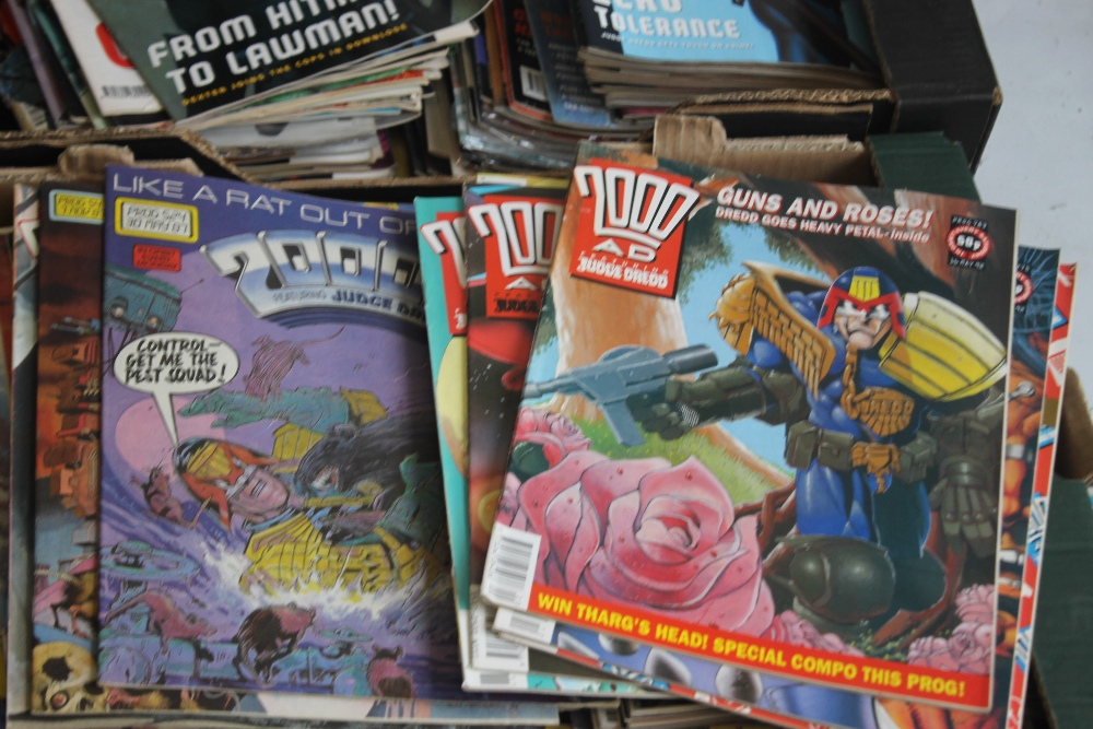 A LARGE QUANTITY OF 2000AD COMICS, mainly 1980s and 1990s, some in sealed packets and a few with - Image 7 of 10