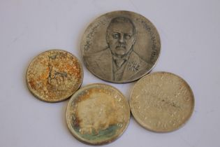 A 1903 JOSEPH CHAMBERLAIN VISIT TO SOUTH AFRICA SILVER MEDAL, along with a South Africa 1952
