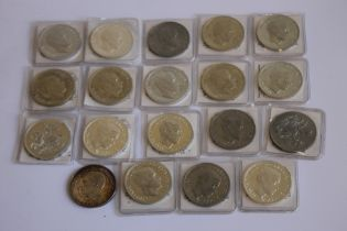A COLLECTION OF EDWARD VIII REPLICA/FANTASY CROWN SIZED COINS, in white metal