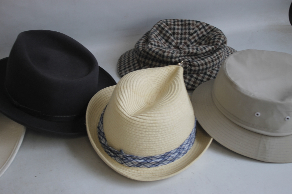 A COLLECTION OF HATS to include an Attaboy trilby, ladies' deerstalkers by Olney, Stormafit, Glen - Image 8 of 8