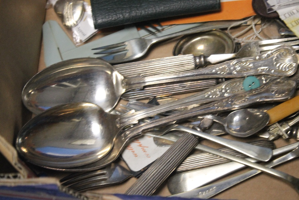A QUANTITY OF WHITE METAL FLATWARE ETC - Image 3 of 3