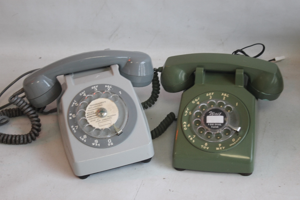 1950S FRENCH DIAL TELEPHONE WITH MOTHER IN LAW LISTENER CONVERTED together with a 1950s US 500