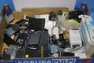 A QUANTITY OF MOBILE PHONES, chargers etc. A/F