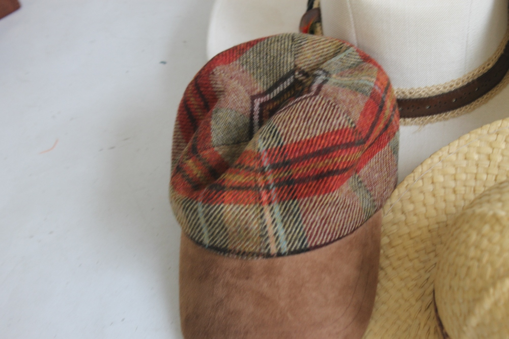 A COLLECTION OF HATS to include an Attaboy trilby, ladies' deerstalkers by Olney, Stormafit, Glen - Image 6 of 8