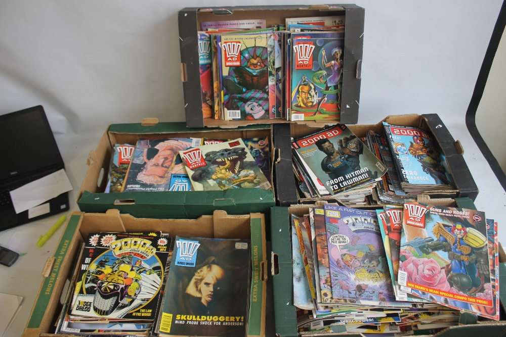 A LARGE QUANTITY OF 2000AD COMICS, mainly 1980s and 1990s, some in sealed packets and a few with