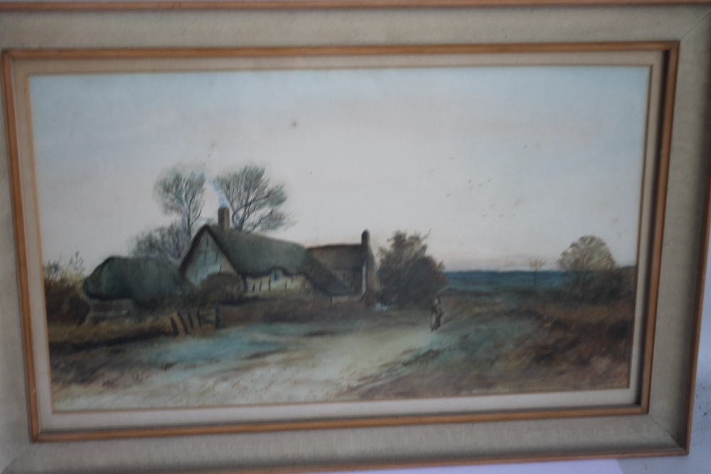 A PAIR OF FRAMED AND GLAZED WATERCOLOURS depicting farmyard scenes - Image 4 of 6