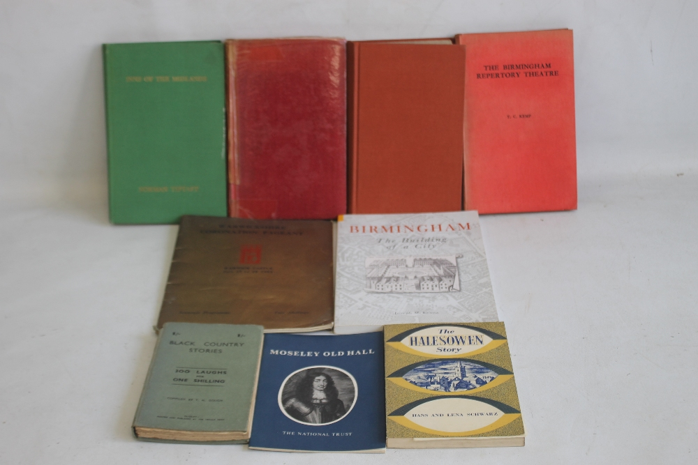 A SMALL COLLECTION OF MIDLANDS INTEREST BOOKS to include Hans & Lena Schwarz - 'The Halesowen Story'