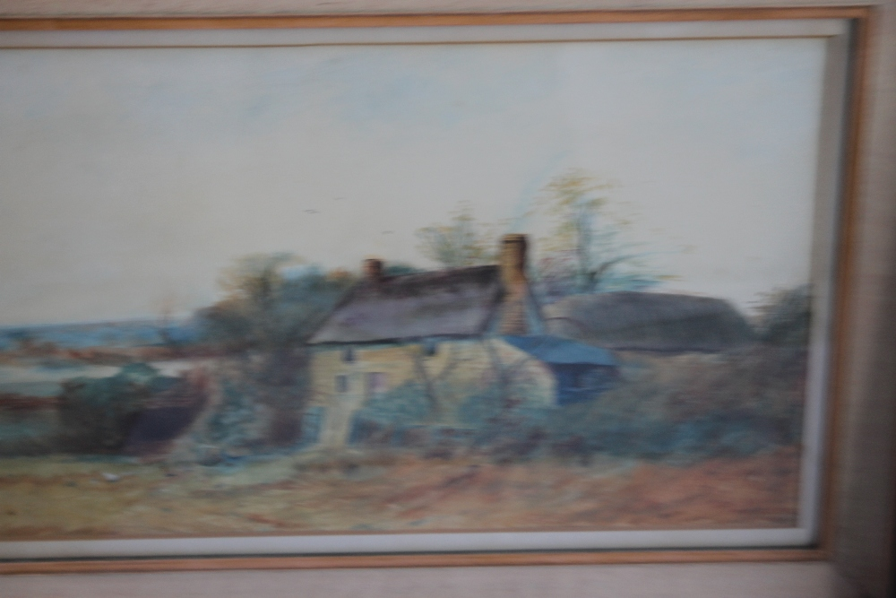 A PAIR OF FRAMED AND GLAZED WATERCOLOURS depicting farmyard scenes - Image 3 of 6