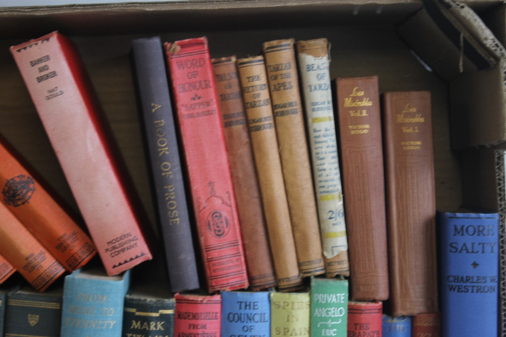 A TRAY OF VINTAGE HARDBACK NOVELS to include Edgar Wallace - 'Forty-eight Short Stories' published - Image 2 of 7