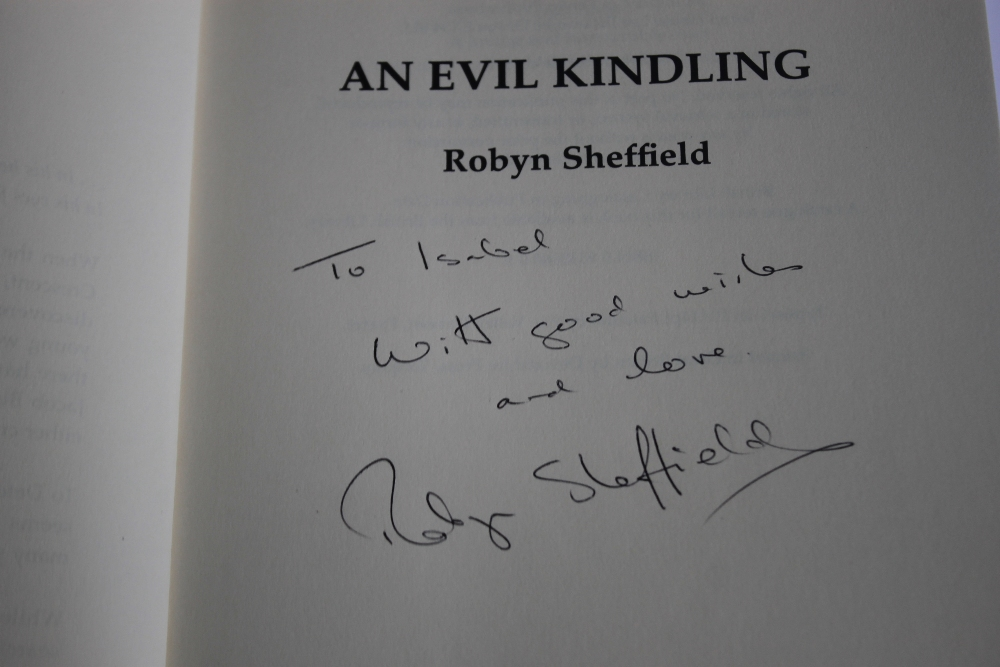 ROBYN SHEFFIELD - 'AN EVIL KINDLING', rare book, first edition published by Blackthorn Crime 1998 - Image 4 of 4