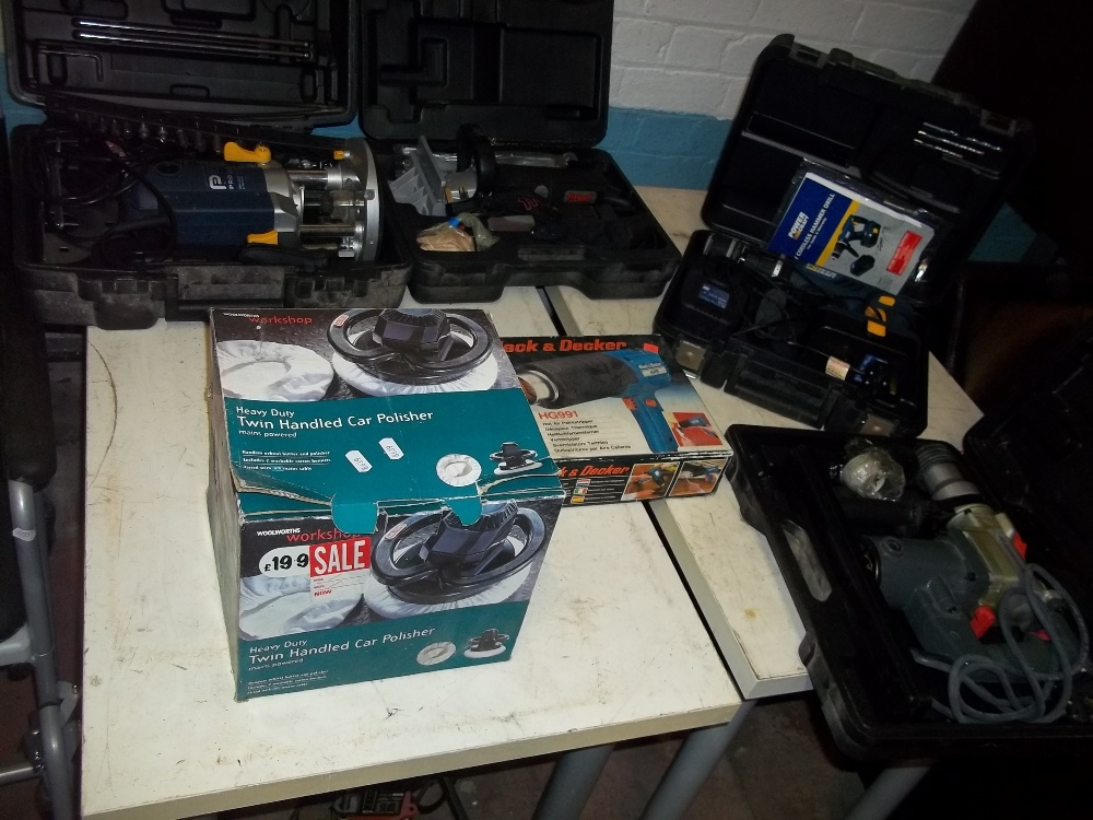 A SELECTION OF BOXED DIY POWER TOOLS INCLUDING A ROUTER AND AN INDUSTRIAL FREUD MORTICEU ETC. - Image 2 of 6