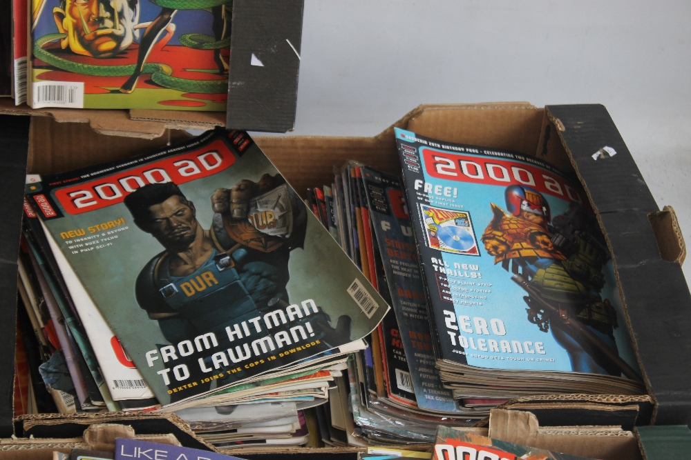 A LARGE QUANTITY OF 2000AD COMICS, mainly 1980s and 1990s, some in sealed packets and a few with - Image 8 of 10