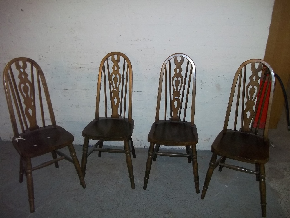 FOUR HOOP BACK CHAIRS