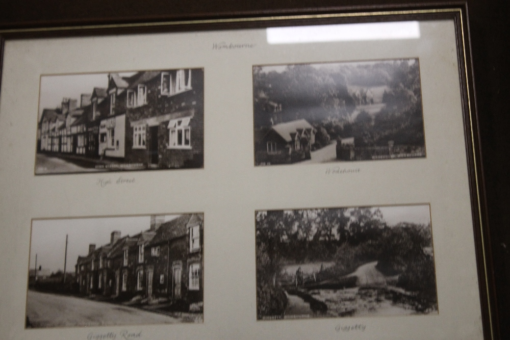A FRAME OF FOUR PHOTOGRAPHS OF WOMBOURNE, together with a print of Wombourne - Image 2 of 3