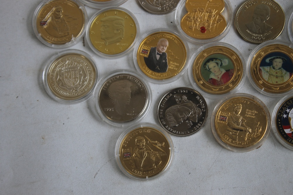 A COLLECTION OF MODERN COMMEMORATIVE CROWN SIZED COINS, to include issues from Fiji, New Zealand, - Image 4 of 5