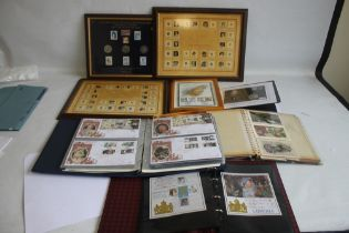 ROYALTY INTEREST- A COLLECTION OF VARIOUS STAMP/COIN COVERS IN ALBUMS ETC, to include Prince Charles