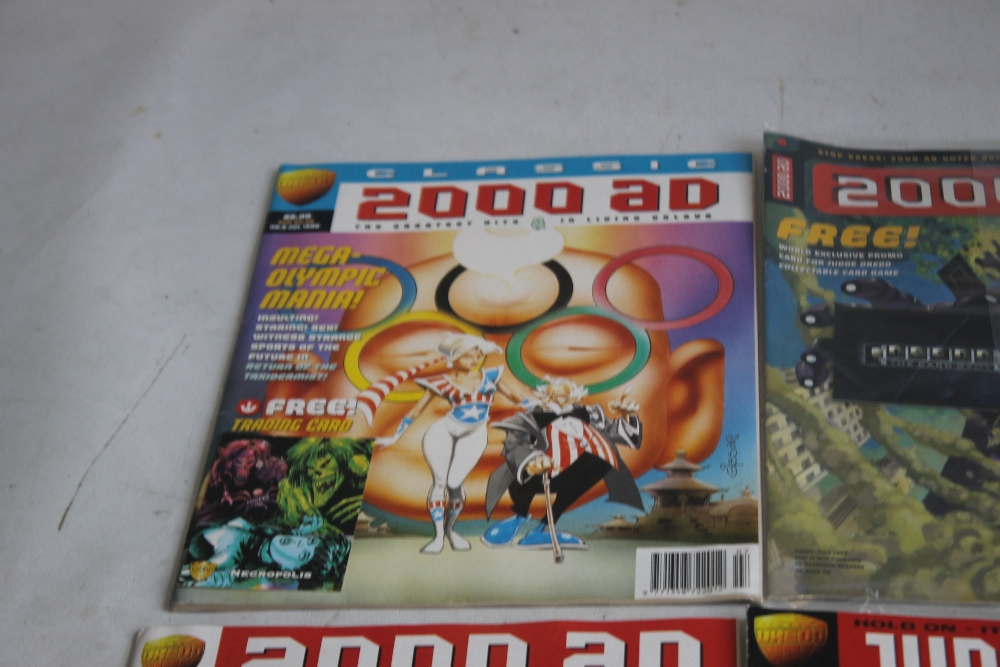 A LARGE QUANTITY OF 2000AD COMICS, mainly 1980s and 1990s, some in sealed packets and a few with - Image 4 of 10