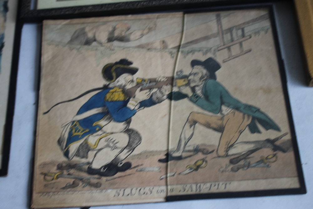 A QUANTITY OF PICTURES AND PRINTS to include an early 19th century Wheatley print, a pair of - Image 5 of 5