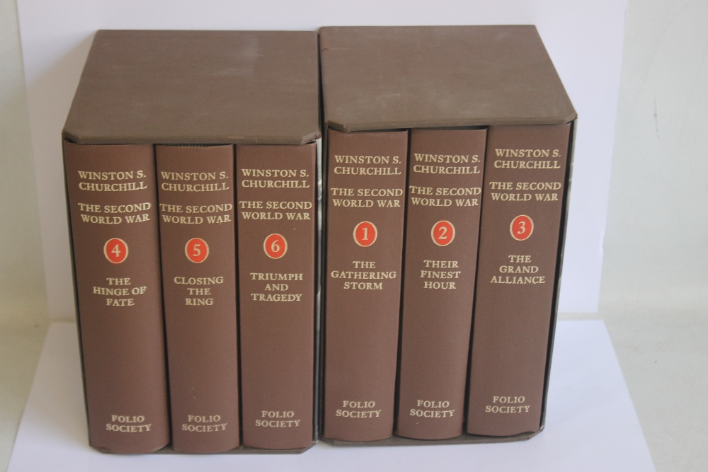 FOLIO SOCIETY - WINSTON S. CHURCHILL THE SECOND WORLD WAR, six volumes in two slip cases, 2nd