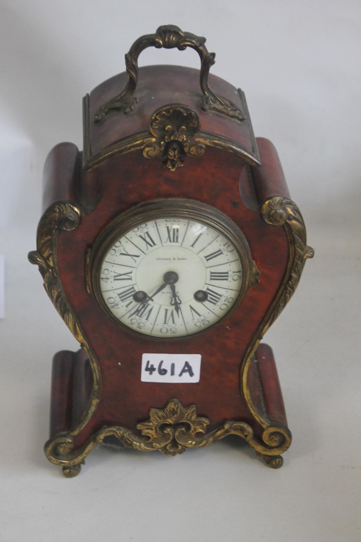 AN EDWARD & SONS OF GLASGOW MANTEL CLOCK