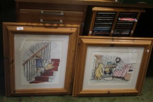 TWO FRAMED AND GLAZED WINNIE THE POOH PRINTS