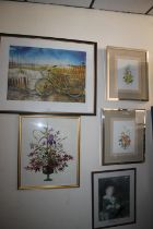 A BICYCLE JIGSAW PICTURE TOGETHER WITH FOUR OTHER PICTURES