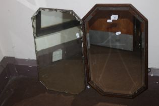 TWO SMALL WALL MIRRORS