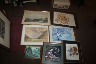 A QUANTITY OF ASSORTED FRAMED PICTURES