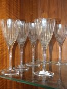 A SET OF SIX MARQUIS BY WATERFORD WINE GLASSES