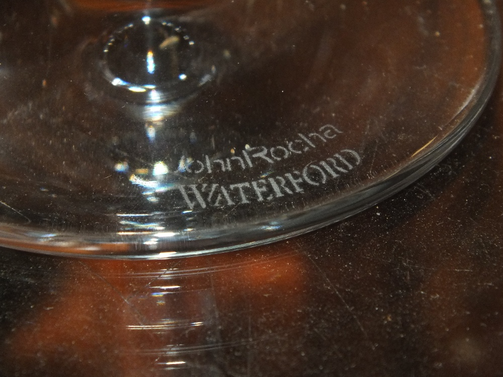 A SET OF SIX JOHN ROCHA WATERFORD CRYSTAL WINE GLASSES - Image 3 of 3