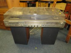 A RETRO MURPHY STEREO MUSIC CENTRE WITH SPEAKERS - HOUSE CLEARANCE